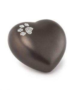 Tierurne Keramik Herzform chocolat
