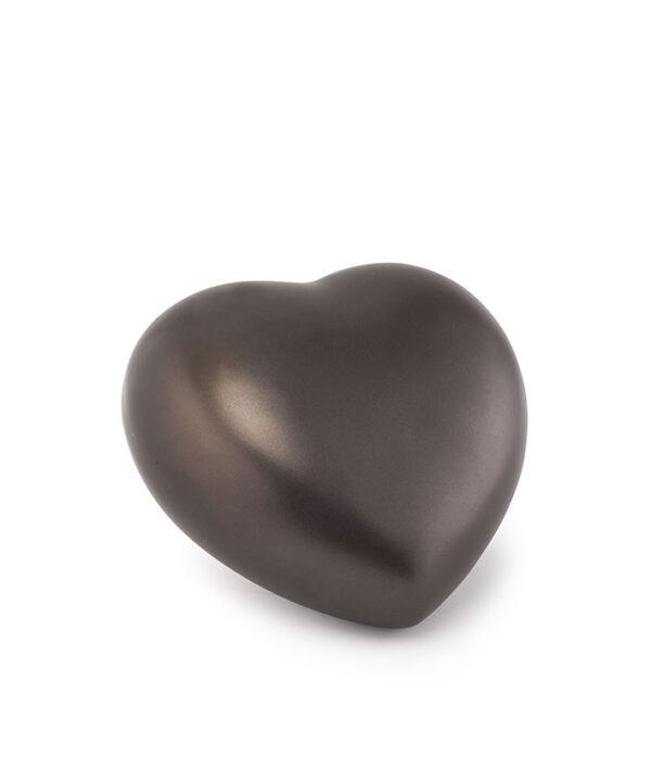 Tierurne Herzform Keramik chocolat