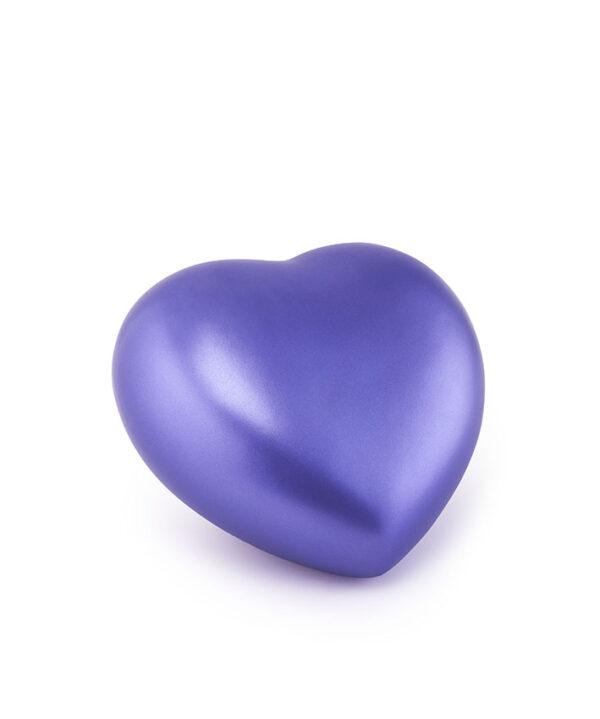 Tierurne Herzform Keramik violett