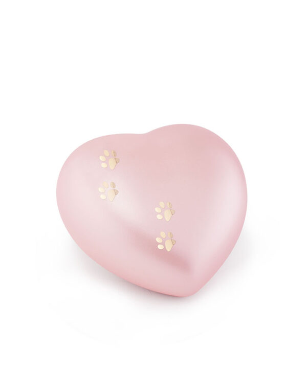 Tierurne Herzform Keramik rose