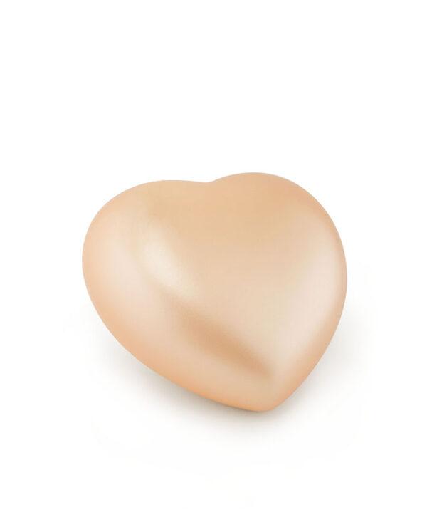 Tierurne Herzform Keramik apricot