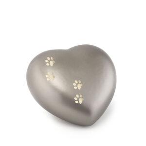 Tierurne Herzform Keramik fume
