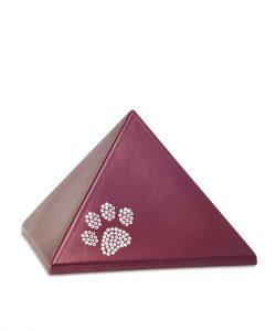 Tierurne Pyramide Keramik weinrot