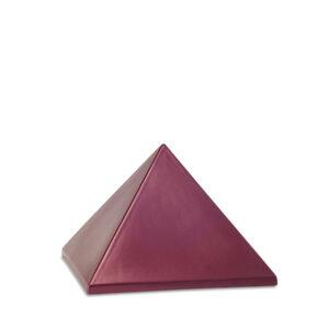Keramikurne Pyramide weinrot