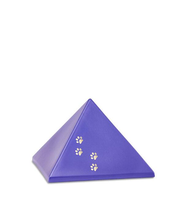 Keramikurne Pyramide mit Goldpötchen violett