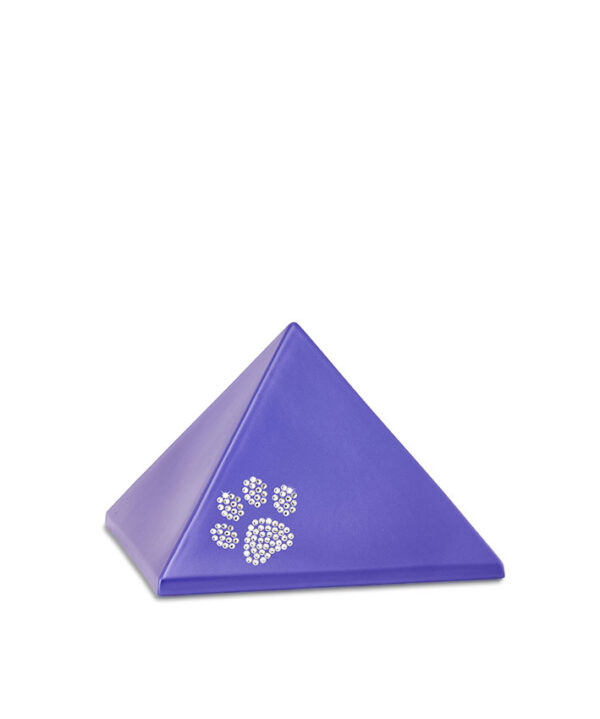 Tierurne Pyramide Keramik violett