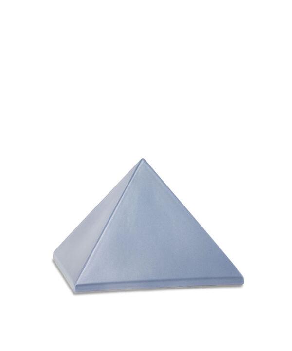 Keramikurne Pyramide chocolat stahlgrau