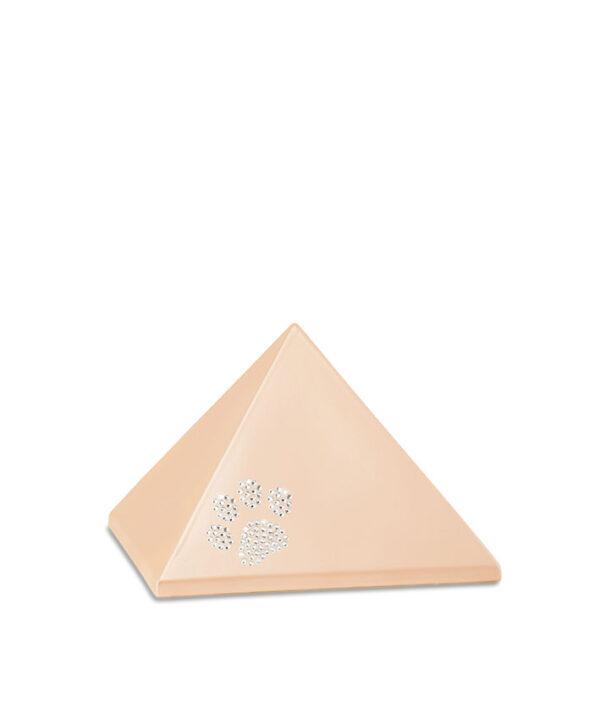 Keramikurne - Pyramide Swarovski apricot
