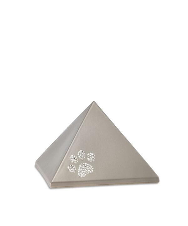 Keramikurne - Pyramide Swarovski fume