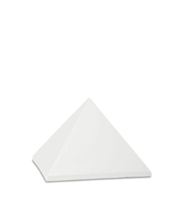Keramikurne Pyramide perlmutt