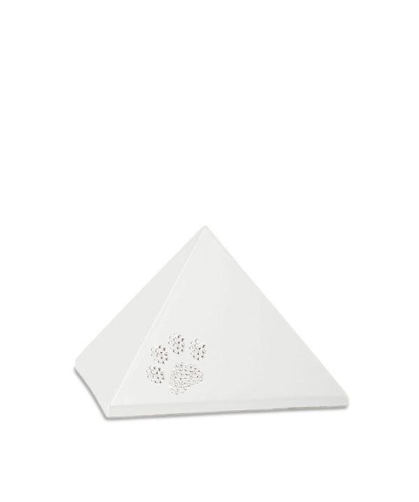 Keramikurne - Pyramide Swarovski perlmutt