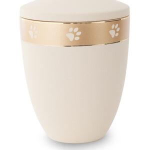 Keramikurne Edition Pata de oro creme