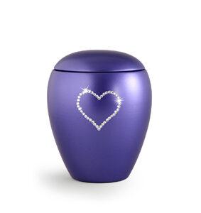 Keramikurne Edition Crystal Herz violett