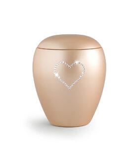 Keramikurne Edition Crystal Herz apricot
